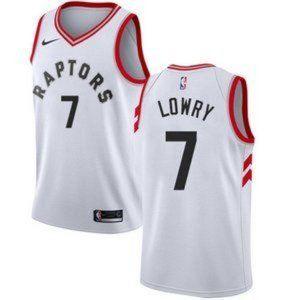 Nike Toronto Raptors Kyle Lowry White Jersey
